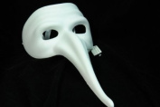 NEW Laser Cut Mediaeval Plague Doctor Mould Design Halloween Mask - White