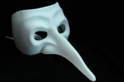 NEW Laser Cut Mediaeval Plague Doctor Mould Halloween Mask - White