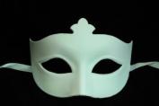 NEW Laser Cut Simply Elegant Design Halloween Mask - White