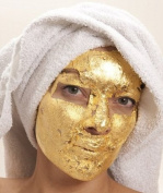 100 x PURE 24K GOLD LEAF SKIN CARE WHITENING ANTI WRINKLE FACIAL SPA FACE MASK