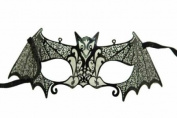 Venetian Bat Wing Inspired Design Laser Cut Masquerade Mask Finely Decorated and Intricately Detailed