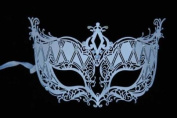 Venetian Mysterious Appeal Design Laser Cut Masquerade Mask Vibrantly Decorated and Intricately Detailed