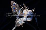 Venetian Blue Dream Butterfly Masquerade Carnival Costume Mask