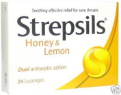 Strepsils Honey and Lemon Cough Pill Relieve Sorethroat