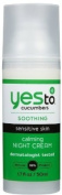 Yes To Cucumbers Calming Night Cream, 1.7 Fluid Ounce