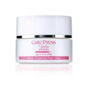 30 G Cute Press Alpha Arbutin White Miracle Brightening Night Cream - Reduce Dark Spots