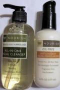 Trader Joe's Nourish All-In-One Facial Cleanser & Nourish Oil-Free Antioxidant Facial Moisturiser