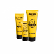 3 Piece Bee Bald Daily Skin Care Regimen Kit including CLEAN, HEAL & SMOOTH