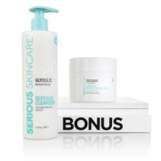 Serious Skincare 350ml Glycolic Cleanser Plus Glycolic Pads