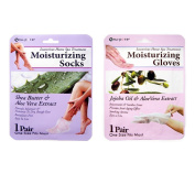 Moisturising Socks Hand Skin Gloves Beauty Spa Nail Therapy Treatment Set Earth