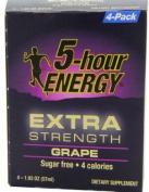 5 Hour Energy Extra Strength Shot, Grape, 4 Count