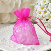 Mini Organza Favour Pouches (10 Count) - Hot Pink