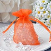 Mini Organza Favour Pouches (10 Count) - Orange