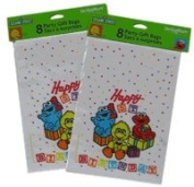 Sesame Street Party Gift Bags set (8 pcs set) - Elmo , Cookie Monster & Big Bird