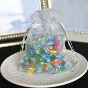 Small Organza Favour Pouches (10 Count) - Silver