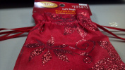 Holiday Living Gift Bags Red Cloth Approx Six Inches