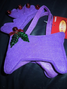 Raindeer Felt Gift Bag Misc Colours with Red Bells