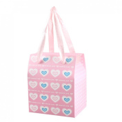 Rosallini Wedding Heart Print Paper DIY Gift Pack Box Case Pink