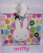 Miffy / Nijntje Bunny Rabbit Large Pink Floral Gift Bag with Gift Tag
