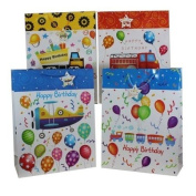 Birthday Trucks and Planes Large Gift Bags