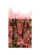 Pink Camo Gift Bag Next Camo Vista 10 x 32cm x 11cm includes Pink Tissue