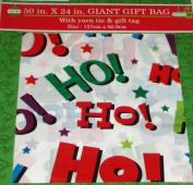 GIANT CHRISTMAS GIFT BAG 130cm x 60cm WHITE HO HO HO DESIGN