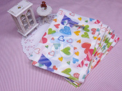 Wholesale Lot of 90 Colour Heart Pattern Plastic Shopping Bags for Packaging