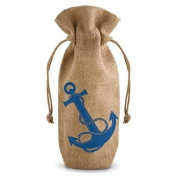 Anchors Away Jute - Gift Bag w/ Rope Drawstring