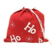 """Christmas Morning Felt """"HO HO HO"""" Gift Bag Small 13X12"""