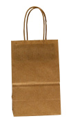 Premier Packaging AMZ-279035 Colours on Kraft Shopping Bag, 5.25 by 8.9cm by 21cm , Oatmeal