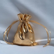3x4 Metallic Lame Wedding Favour Gift Bags/Pouches - Gold