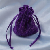 3x4 Sparkle Fabric Wedding Favour Gift Bags/Pouches - Purple