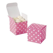 Candy Pink Polka Dot Gift Boxes - Solid Colour Party Supplies & Solid Colour Favour Containers