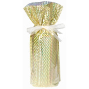 Gift Mate 21098-5 5-Piece Wine/Bottle Drawstring Gift Bags, Diamond Gold