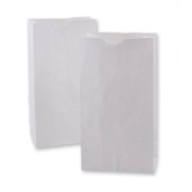 Mini White Paper Craft Bags 11cm x 6.4cm x 22cm - 100 Per Pack