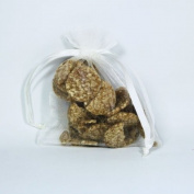 10cm x13cm Ivory Sheer Organza Pouch
