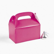 Mini Hot Pink Treat Boxes - Party Favours & Party Bags & Containers