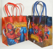 Spiderman Party Favour Goodie Small Gift Bags 12