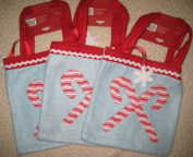 Light Blue Candy Cane Gift Bags (Set of 3) 20cm