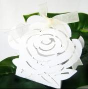 Rose-shaped Die cut Decorative Favour Boxes