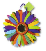 Pack of 6 Flower Power Medium Die Cut Gift Bags