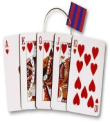Pack of 6 Royal Flush Medium Die Cut Gift Bags