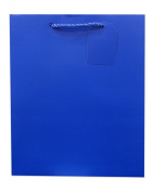 Jillson Roberts Large Gift Bag, Royal Blue Matte, 6-Count