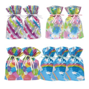 Gift Mate 21004-9 9-Piece Drawstring Gift Bags, Small, Celebration Assortment