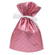 Gift Mate 21065-9 9-Piece Drawstring Gift Bags, Small, Pink Polka Dot