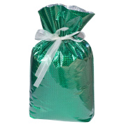 Gift Mate 21076-9 9-Piece Drawstring Gift Bags, Small, Diamond Green