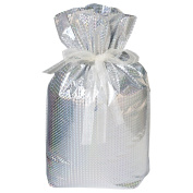 Gift Mate 21078-9 9-Piece Drawstring Gift Bags, Small, Diamond Silver