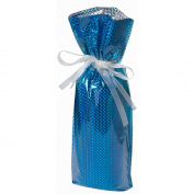 Gift Mate 21097-5 5-Piece Wine/Bottle Drawstring Gift Bags, Diamond Blue