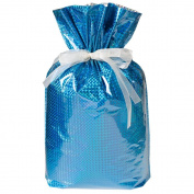 Gift Mate 21171-2 2-Piece Drawstring Gift Bags, XX-Large, Diamond Blue