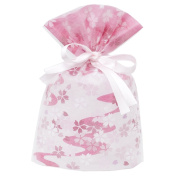 Gift Mate 21023-4 4-Piece Drawstring Gift Bags, Large, Non-Woven Blossom